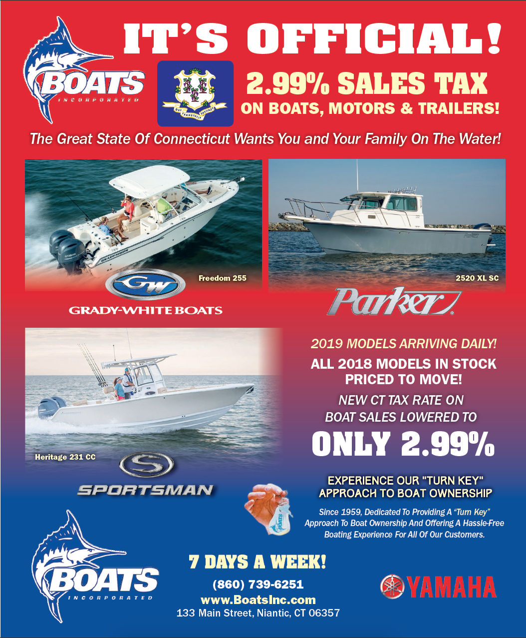 Ct Sales Tax Rate >> New 2 99 Ct Sales Tax Boats Incorporated